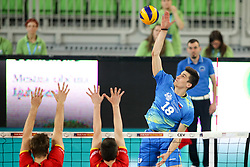 Klemen Cebulj of Slovenia during volleyball match between National teams of Slovenia and Belgium in 2nd Round of 2018 FIVB Volleyball Men's World Championship qualification, on May 28, 2017 in Arena Stozice, Ljubljana, Slovenia. Photo by Morgan Kristan / Sportida