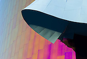 Metal sculpture at the Experience Music Project, Seattle, Washington