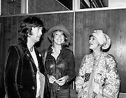 Eric Clapton, Patti Boyd and Judy Geeson arrive in Dublin to take part in 'Circasia 75'.<br /> 13/09/1975