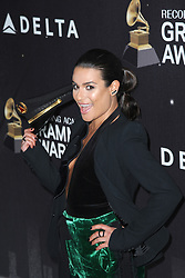January 25, 2018 - New York, NY, USA - January 25, 2018  New York City..Lea Michele attending Delta Air Lines celebration of 2018 Grammy Weekend at The Bowery Hotel on January 25, 2018 in New York City. (Credit Image: © Kristin Callahan/Ace Pictures via ZUMA Press)