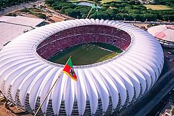 Estádio Beira-Rio visto de cima. O estádio Beira Rio receberá os jogos da Copa do Mundo de Futebol 2014. FOTO: Alexandre Lops/ Inter/ Agência Preview
