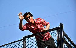 November 2, 2018 - Mumbai, India - Indian actor Shahrukh Khan waves to his fans on 53rd birthday at Mannat, Bandrra in Mumbai. (Credit Image: © Azhar Khan/SOPA Images via ZUMA Wire)