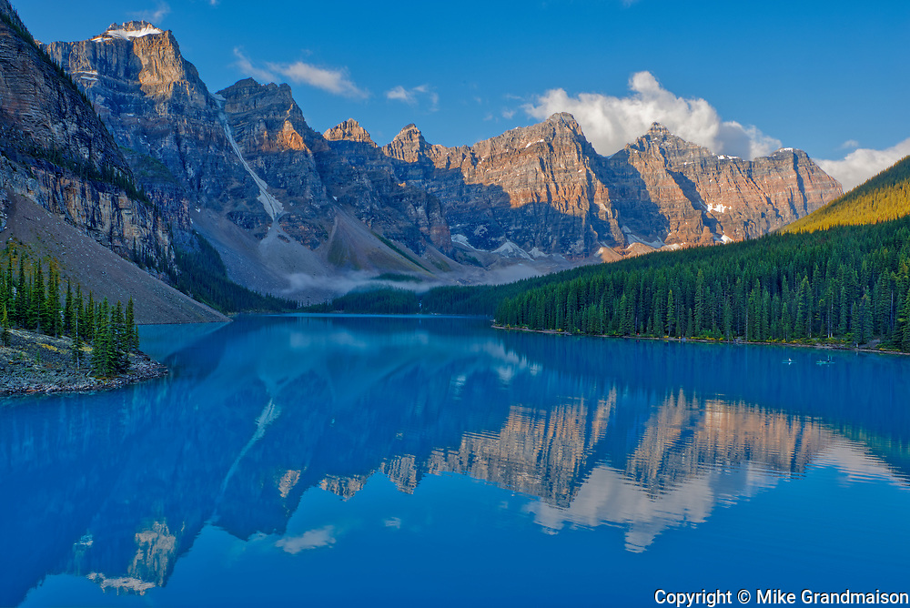 Moraine Lake and the Valley of the Ten Peaks.<br />Banff National Park<br />Alberta<br />Canada