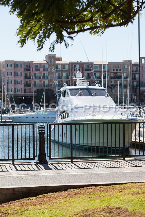Boats and Yachts Docked at Marina Del Rey