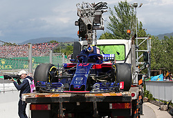 May 13, 2018 - Barcelona, Spain - the Toro Rosso of Pierre Gasly, after the accident during the GP Spain F1, on 13th May 2018 in Barcelona, Spain. (Credit Image: © Joan Valls/NurPhoto via ZUMA Press)