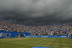 June 24, 2017 - London, England, United Kingdom - A view of the clouds above the Centre Court during the semi final of AEGON Championships at Queen's Club, London, on June 24, 2017. (Credit Image: © Alberto Pezzali/NurPhoto via ZUMA Press)