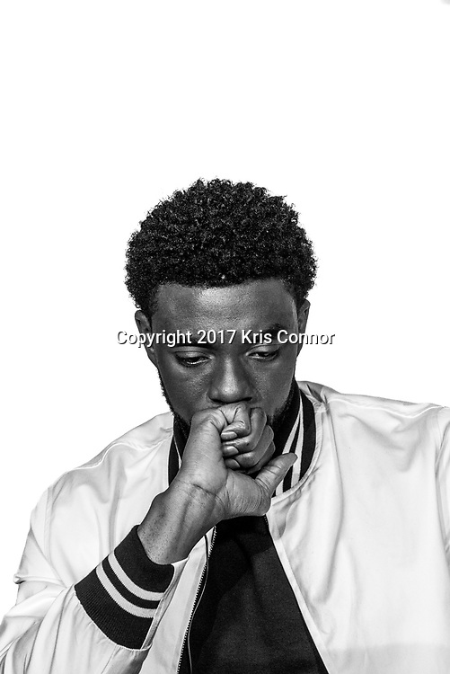 Actor Chadwick Boseman poses for a portrait in Baltimore, Md. on July 25th, 2017. (Photo by Kris Connor/Open Road Films)