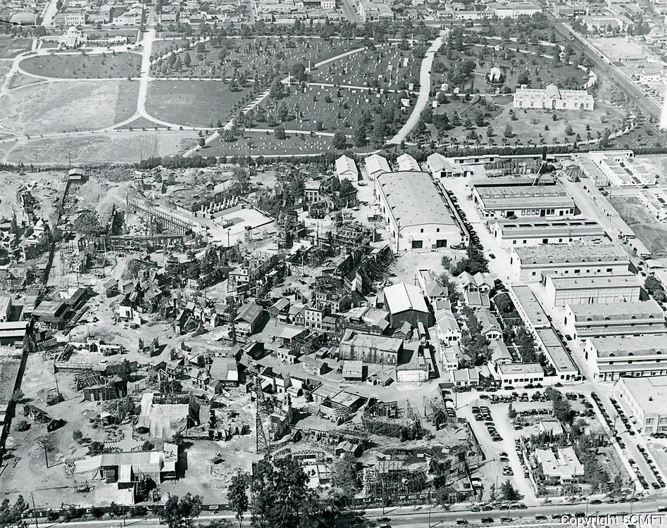 1922 Aerial view of United Studios in Hollywood