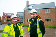 l-r, Site Manager, Andy Redgwell and Grace Homes Director, Peter Hutorka