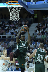 April 25, 2018 - Madrid, Madrid, Spain - ANTETOKOUNMPO  THANASIS of Panathinaikos Superfoods in action against  during the Turkish Airlines Euroleague play-off quarter final series third match between Real Madrid and Panathinaikos Superfoods at the Wizink Center in Madrid, Spain on April 25, 2018  (Credit Image: © Oscar Gonzalez/NurPhoto via ZUMA Press)