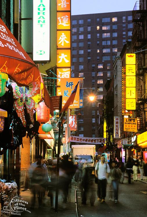 Chinatown, Restaurant Signs, Manhattan, New York