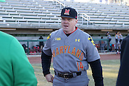 CARY, NC - MARCH 03: Maryland head coach John Szefc. The University of Maryland Terrapins played the University of Notre Dame Fighting Irish on March 3, 2017, at USA Baseball NTC Stadium Field in Cary, NC in a Division I College Baseball game, and part of the Irish Classic tournament. Maryland won the game 4-3.