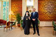 DEN HAAG - Koning Willem-Alexander heeft vrijdag 8 november in audiëntie Zijne Alheiligheid de Oecumenische Patriarch Bartholomeus op Paleis Huis ten Bosch ontvangen. Foto: POOL   Wesley de Wit