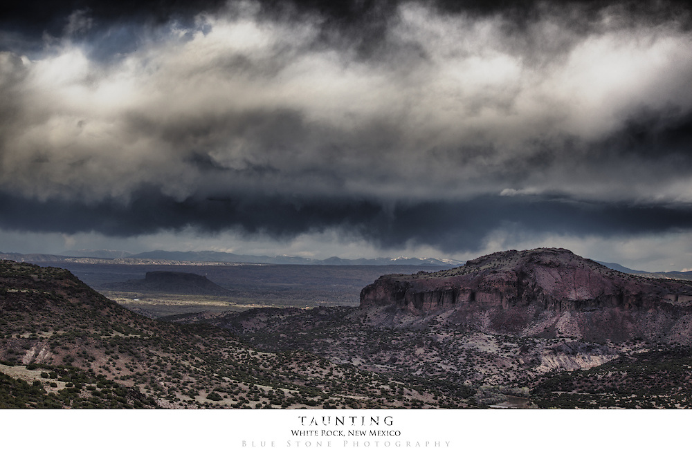 20x30 poster print of southwest dry thunderstorm over mountains.