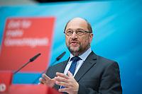 DEU, Deutschland, Germany, Berlin, 03.07.2017: SPD-Kanzlerkandidat Martin Schulz bei einer Pressekonferenz im Willy-Brandt-Haus.