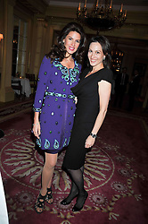 Left to right, CHRISTINA ESTRADA-JUFFALI and LADY NUTTALL at a reception to launch Films Without Borders held The Lanesborough Hotel, London on 8th October 2009.