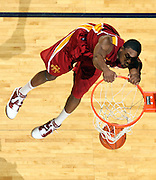 Dec. 30, 2010; Charlottesville, VA, USA; Iowa State Cyclones forward Melvin Ejim (3) dunks the ball during the game against the Virginia Cavaliers at the John Paul Jones Arena. Iowa State Cyclones won 60-47. Mandatory Credit: Andrew Shurtleff-