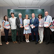 31.05.2018.          <br /> Limerick and Clare Education Training Board launch Youth Work Plan 2018-2021 at Thomond Park Limerick with Pat Breen TD, Minister of State with special responsibility for Trade, Employment, Business, EU Digital Single Market and Data Protection, Clare. <br /> <br /> Pictured at the event were, Cllr. Seeks, Jackie Dwane, Jordan Cassells, George O'Callaghan, LCETB, Bernadette Cullen, LCETB, Pat Breen TD, Minister of State with special responsibility for Trade, Employment, Business, EU Digital Single Market and Data Protection, Clare, Cora Foley, Seamus Bane and Sean McMahon. Picture: Alan Place
