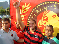 20090507: RIO DE JANEIRO, BRAZIL - Former football player from Internazionale Milan Adriano returns to his dream team Flamengo 8 years later. The player confessed he wants to play again at Brazil National Team. PHOTO: Andre Durao/CITYFILES