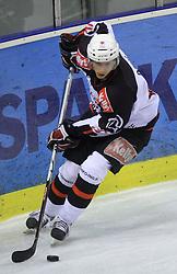 Miha Brus at 39th Round of EBEL League ice hockey match between HDD Tilia Olimpija and HK Acroni Jesenice, on December 30, 2008, in Arena Tivoli, Ljubljana, Slovenia. Tilia Olimpija won 4:3. (Photo by Vid Ponikvar / SportIda).
