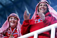 Håndball VM, Tunis 2005, Sousse 26/01-05, <br />Norge - Serbia og Montenegro, <br />Norske supportere holdt varmen på tribunen,<br />Foto: Sigbjørn Andreas Hofsmo, Digitalsport