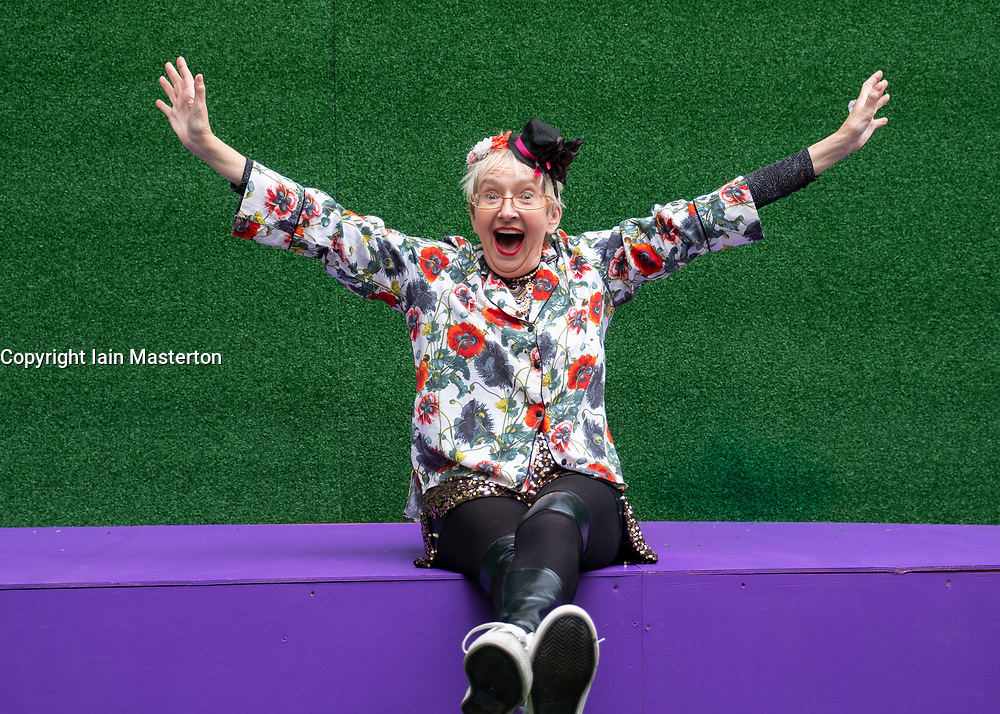 Edinburgh, Scotland, UK; 1 August, 2018. Su Pollard is appearing at the Edinburgh Fringe this year in a production Harpy at the Underbelly Theatre.