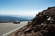 June 26-30 - Pikes Peak Colorado. Sebastian Loeb runs his car during practice for the 91st running of the Pikes Peak Hill Climb.