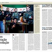 "Tearsheet of ""Syria: viagem ao coracao da revolucao"" published in Expresso"