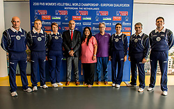 22-08-2017 NED: World Qualifications Slovenia - Bulgaria, Rotterdam<br /> Bulgaria win 3-1 against Slovenia / CEV delegate and referees<br /> Photo by Ronald Hoogendoorn / Sportida