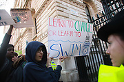 Thousands of school children went on strike and did not go to school demanding climate change action in central London March 15th 2019, Central London, United Kingdom. The strike is inspired by Greta Thunberg, a Swedish school girl who in 2018 went on school strike to make adults and lawmakers take climate change action. Striking students sending their message to Downing Street no 10 and PM Teresa may.
