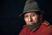 Local Quichua Indian<br /> near Chimborazo<br /> Ecuador, South America