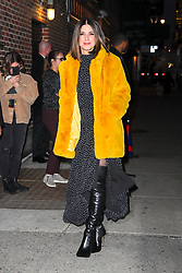 Sandra Bullock seen all smiling while posing outside The Late Show with Stephen Colbert in New York City. 17 Dec 2018 Pictured: Sandra Bullock. Photo credit: MEGA TheMegaAgency.com +1 888 505 6342