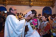 "Feast of ""Mamacha del Carmen"" of Paucartambo. During the Mass dedicated to dancing groups"