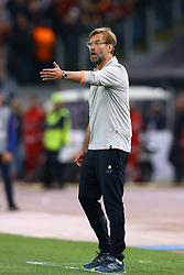 May 2, 2018 - Rome, Lazio, Italy - AS Roma v FC Liverpool - Champions League semi-final second leg.Liverpool manager Jurgen Klopp at Olimpico Stadium in Rome, Italy on May 02, 2018. (Credit Image: © Matteo Ciambelli/NurPhoto via ZUMA Press)