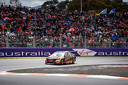 October 7, 2018 - Bathurst, NSW, U.S. - BATHURST, NSW - OCTOBER 07: David Reynolds / Luke Youlden in the Erebus Penrite Racing Holden Commodore around the first corner at the Supercheap Auto Bathurst 1000 V8 Supercar Race at Mount Panorama Circuit in Bathurst, Australia on October 07, 2018 (Photo by Speed Media/Icon Sportswire) (Credit Image: © Speed Media/Icon SMI via ZUMA Press)