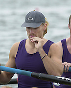 Nottingham, National Rowing Championship.<br /> 2001 Championships<br /> Photo Peter Spurrier.<br /> <br /> Sat 21th July 2001<br /> Sydney 2000 gold Medallist, Tim Foster, rowing at No.3 for his crew University of London in the coxed four (M4+). Goes through the start ritual of touching the talisman from around his neck at the National Championships – National Water Centre Nottingham     [Mandatory Credit;Peter SPURRIER;Intersport Images] 20010723 National Rowing Championships, Nottingham. UK