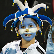 A young Argentinian fan during the Argentina V Scotland, Pool B match at the IRB Rugby World Cup tournament. Wellington Regional Stadium, Wellington, New Zealand, 25th September 2011. Photo Tim Clayton...