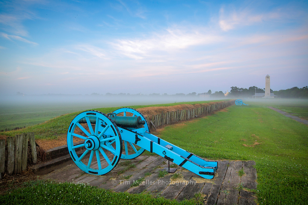 Chalmette Battlefield is part of the Jean Lafitte National Historic Park and Preserve. The Battle of New Orleans in the War of 1812 was fought at Chalmette Plantation January 8, 1815. The park contains monuments and exhibits of the momentous battle.
