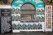 Virus face mask street art and graffiti is in Shoreditch as lockdown continues and people observe the stay at home message in the capital on 12th May 2020 in London, England, United Kingdom. Coronavirus or Covid-19 is a new respiratory illness that has not previously been seen in humans. While much or Europe has been placed into lockdown, the UK government has now announced a slight relaxation of the stringent rules as part of their long term strategy, and in particular social distancing.