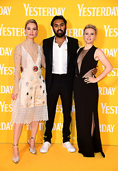 Lily James (left), Himesh Patel and Kate McKinnon attending the Yesterday UK Premiere held in London, UK.