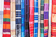 Colorful, handmade, moroccan bed covers.