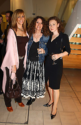 Left to right, MANYA BARTICK, LINNY MOSS and BONNIE SUTTON at a party to celebrate the european launch of Froggy handbags held at BB Italia, Brompton Cross, London on 24th October 2004.<br /><br />NON EXCLUSIVE - WORLD RIGHTS