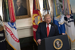 27 October 2019- Washington DC- United States President Donald J. Trump answers reporter's questions after making a statement at the White House on the death of ISIS leader Abu Bakr al-Baghdadi during a U.S. military raid in Syria. Photo Credit: Chris Kleponis/Pool/ABACAPRESS.COM