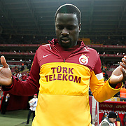Galatasaray's Emmanuel Eboue during their Turkish Super League soccer match Galatasaray between Genclerbirligi at the TT Arena at Seyrantepe in Istanbul Turkey on Friday, 08 March 2013. Photo by Aykut AKICI/TURKPIX