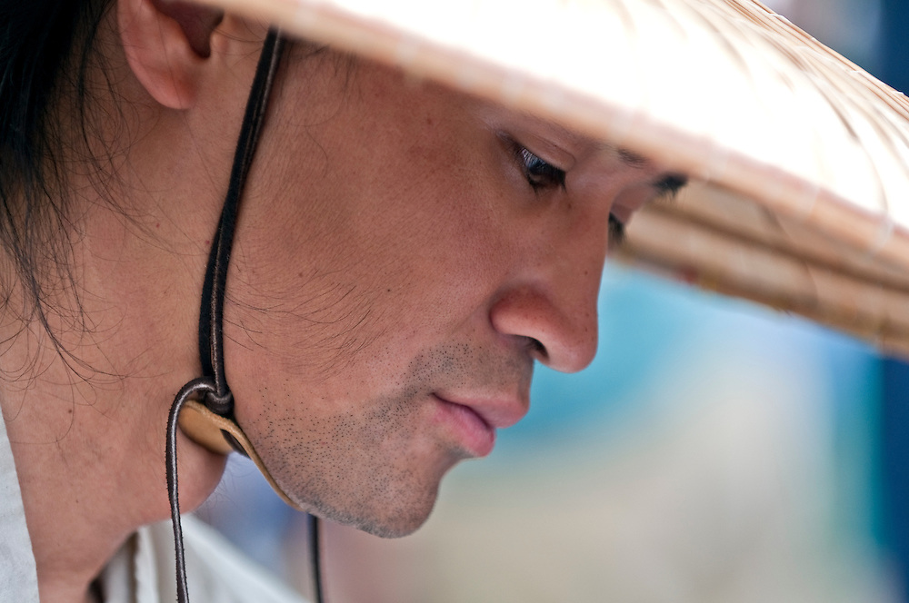 Portrait of young oriental man pensive