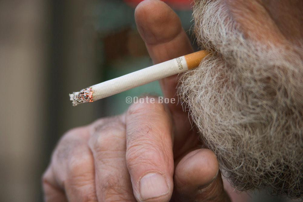 close up of person smoking