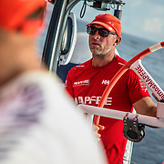 Leg 4, Melbourne to Hong Kong, day 09 on board MAPFRE, Rob Greenhalgh. Photo by Ugo Fonolla/Volvo Ocean Race. 10 January, 2018.