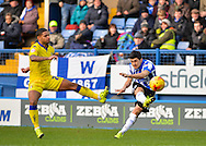 Sheffield Wednesday Forward Fernando Forestieri with a shot on goal during the Sky Bet Championship match between Sheffield Wednesday and Leeds United at Hillsborough, Sheffield, England on 16 January 2016. Photo by Adam Rivers.