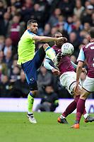 Aston Villa v Derby County - Sky Bet Championship<br /> BIRMINGHAM, ENGLAND - APRIL 28 :  Bradley Johnson, of Derby County, clears the ball.