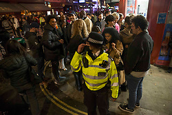 © Licensed to London News Pictures.  12/04/2021. London, UK. Members of the public make the most of the night out in  Soho, central London as the government takes the next step on its lockdown-lifting road map and pubs and restaurants gardens  re-open today.  Photo credit: Marcin Nowak/LNP
